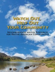 NATIVE AMERIcAN NEIGHbORHOOD WATcH - Bureau of Justice ...