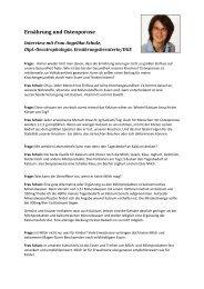 Interview: Osteoporose und Ernährung