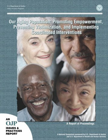 Our Aging Population - Office of Justice Programs - Department of ...