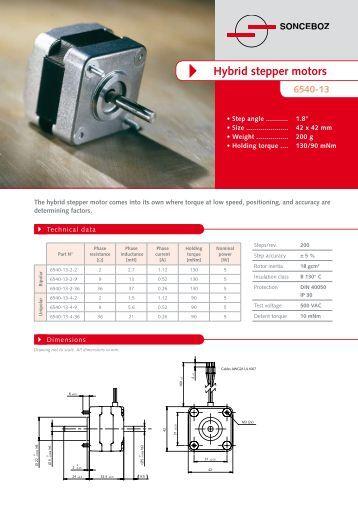 17 23 frame size hybrid stepper motors mclennan servo for Servo motor frame sizes