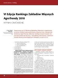 VI Edycja Rankingu Zakładów Mięsnych AgroTrendy 2010 - Szu.pl
