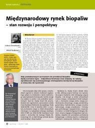 Międzynarodowy rynek biopaliw - Szu.pl