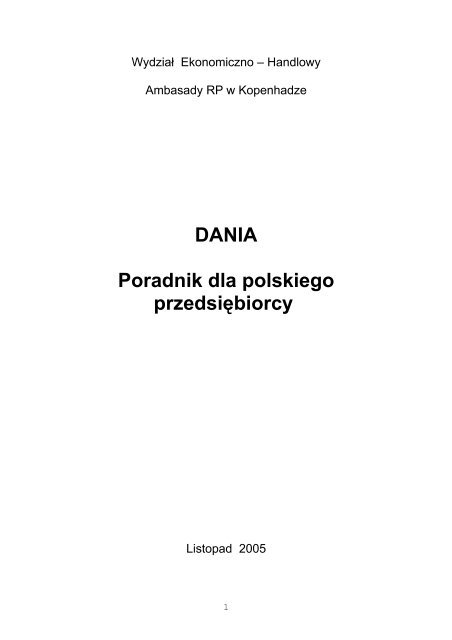 DANIA Poradnik dla polskiego przedsiębiorcy - Szu.pl
