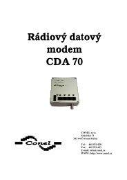 Rádiový datový modem CDA 70 - Ok1mjo.com