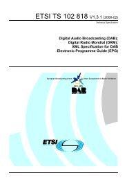 TS 102 818 - V1.3.1 - Digital Audio Broadcasting (DAB) - Ok1mjo.com