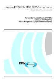 EN 300 392-5 - V1.3.0 - Terrestrial Trunked Radio (TETRA ... - ETSI