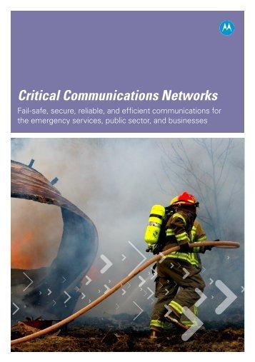 Critical Communications Networks - Motorola Solutions