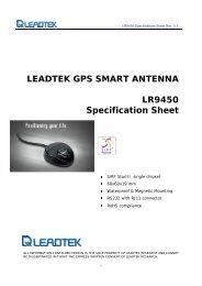 LEADTEK GPS SMART ANTENNA LR9450 Specification Sheet