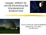 Voyager, AMSAT-DL und die Entwicklung des ... - Ok1mjo.com