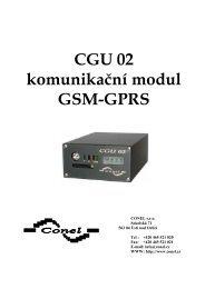 CGU 02 komunikační modul GSM-GPRS - Ok1mjo.com