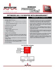BCM5354 Product Brief - Ok1mjo.com