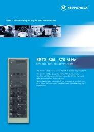 EBTS 800 MHz - TETRA
