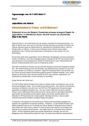Alkoholverbot in Trams und S-Bahnen? - okaj