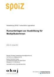 Kursunterlagen zur Ausbildung für MultiplikatorInnen - okaj
