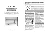 Liftio - Instructions for Use - Okamura Corporation