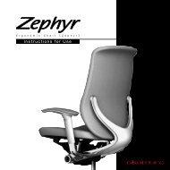 Zephyr - Instruction for Use - Okamura Corporation