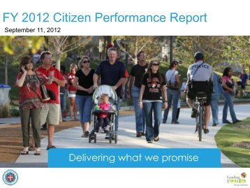 FY 2012 Citizen Performance Report - City of Oklahoma City