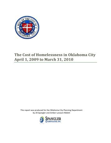 The Cost of Homelessness in Oklahoma City April 1, 2009 to March ...