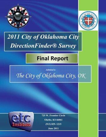 survey. The results - City of Oklahoma City