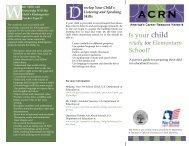 Is Your Child Ready for Elementary School - Oklahoma Department ...