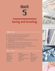 Saving and Investing - Oklahoma Department of Career and ...