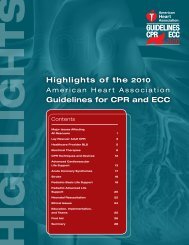 Highlights of the 2010 Guidelines for CPR and ECC - ECC Guidelines