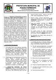 EDITAL Prefeitura de Águas Formosas - Concursos Públicos