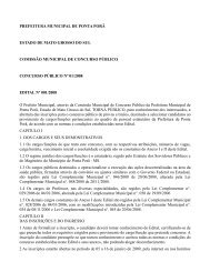 Prefeitura Municipal de Ponta Porã- Edital nº 01 - Concursos Públicos