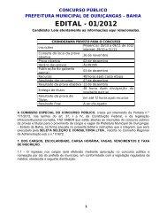EDITAL - 01/2012 - Concursos Públicos