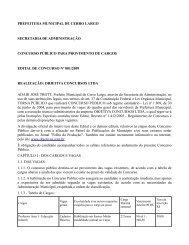 PREFEITURA MUNICIPAL DE CERRO LARGO - Concursos Públicos