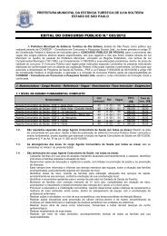 EDITAL 02 Prefeitura Ilha Solteira - SP 2012 - Concursos Públicos