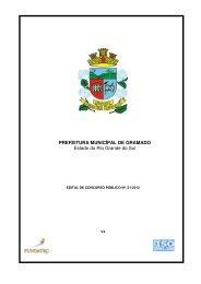 EDITAL Prefeitura de Gramado - RS 2012 - Concursos Públicos