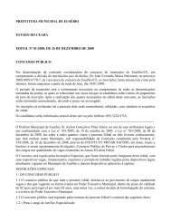 Prefeitura Municipal de Eusébio - Edital 01 - Concursos Públicos