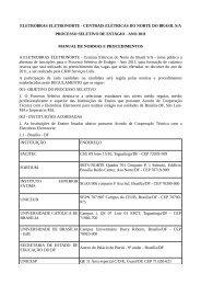 eletrobras eletronorte - Concursos Públicos
