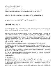 ADEPARA - Agência de Defesa do Estado do Pará I - Edital nº 04