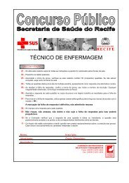 TÉCNICO DE ENFERMAGEM - Concursos Públicos