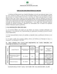 EDITAL Prefeitura Jaru - RO 2012 - Concursos Públicos