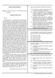 LÍNGUA PORTUGUESA - Concursos Públicos