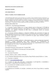 Prefeitura Municipal de Bom Jesus - Editais nº 01 - 2009