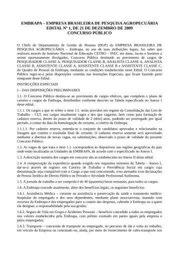 embrapa – empresa brasileira de pesquisa agropecuária edital nº 1 ...