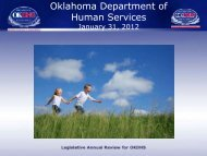 Oklahoma Department of Human Services Legislative Annual review