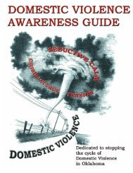 Domestic Violence Awareness Guide - Oklahoma Department of ...