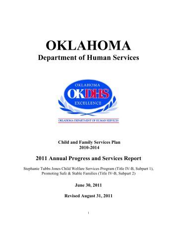 2011 Annual Progress and Services Report - Oklahoma Department ...