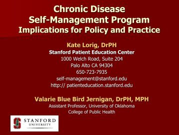 Chronic Disease Self-Management Program Implications for Policy ...