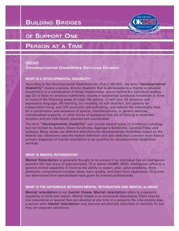 Developmental Disabilities Services Division Fact Sheet - Oklahoma ...