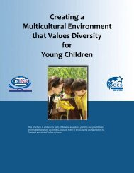 Creating a Multicultural Environment that Values Diversity for Young ...