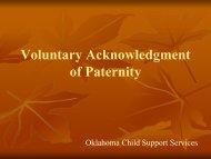 Voluntary Acknowledgment of Paternity - OKDHS - Oklahoma ...