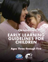 Oklahoma Early Learning Guidelines - Oklahoma Department of ...
