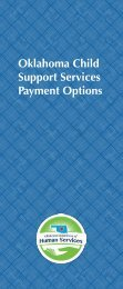 Oklahoma Child Support Service Payment Options