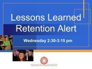 Retention Alert